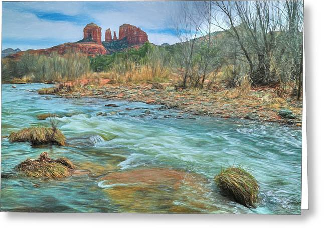 The Heart Of Sedona Greeting Card by Donna Kennedy