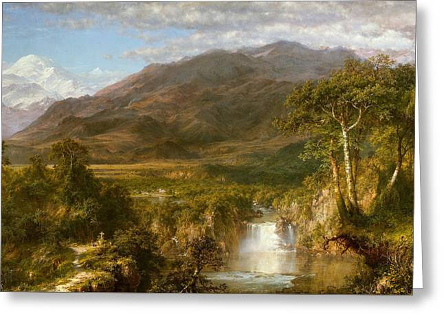 The Heart Of The Andes Greeting Card by Frederic Edwin Church