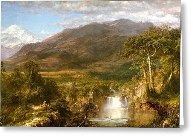 The Heart Of The Andes Greeting Card by Fredrick Edwin Church