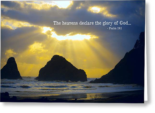 Bible Digital Greeting Cards - The Heavens Declare Greeting Card by Bonnie Bruno