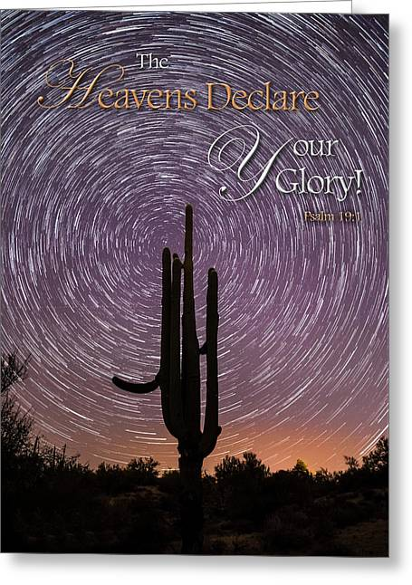 The Heavens Declare Greeting Card