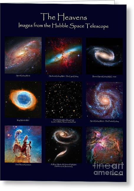 Greeting Card featuring the photograph The Heavens - Images From The Hubble Space Telescope by David Perry Lawrence