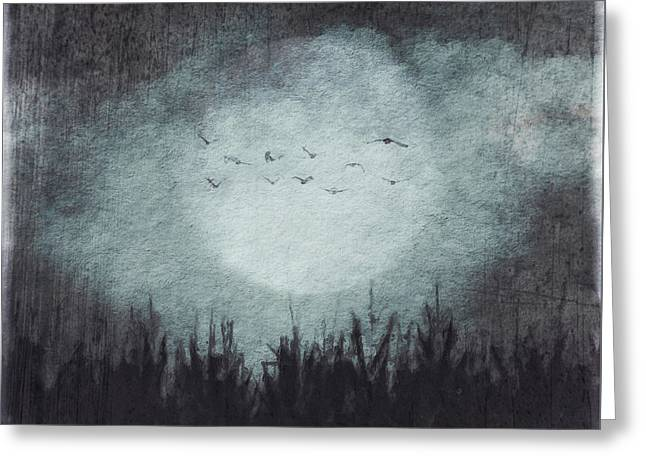 The Heavy Moon Greeting Card