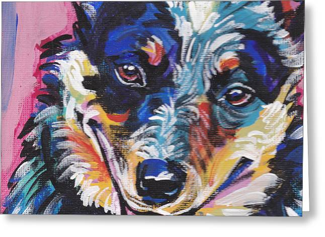 The Heeler Greeting Card by Lea S