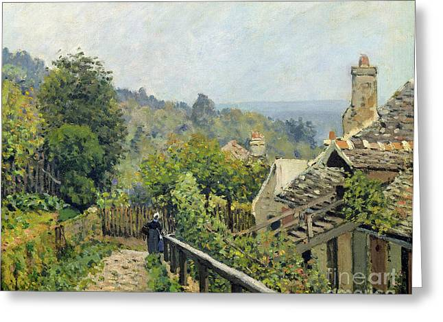 The Heights At Marly Greeting Card by Alfred Sisley