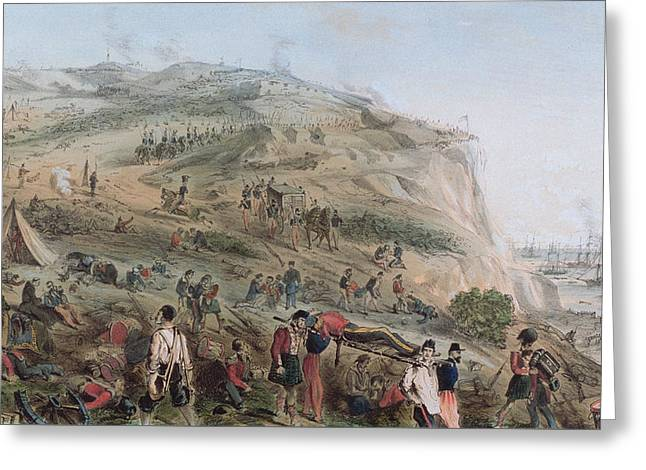 The Heights Of Alma   The Day After The Battle  Greeting Card by Joseph-Benwell Austin
