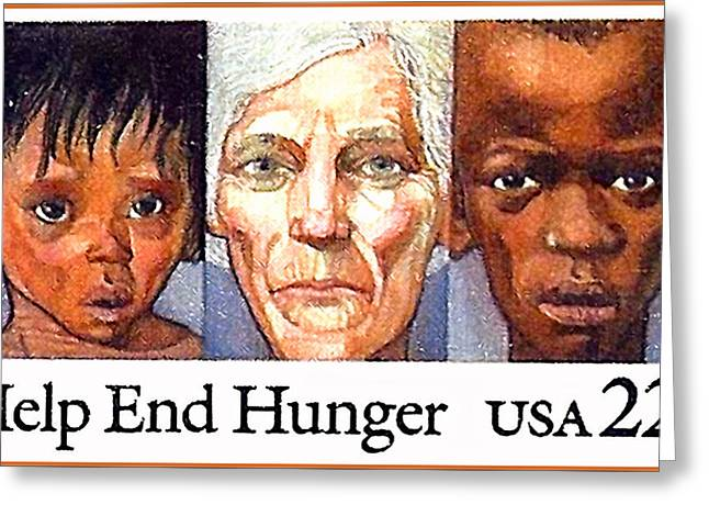 The Help End Hunger Stamp Greeting Card