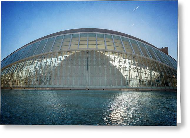 The Hemisferic Valencia Spain Texture Cool Greeting Card by Joan Carroll
