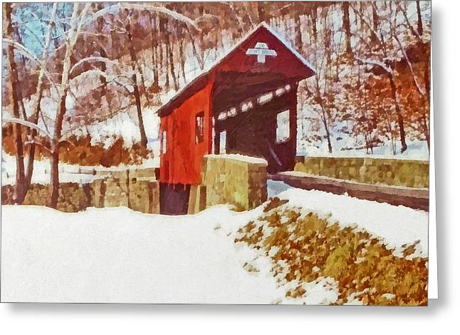 The Henry Bridge In Winter Greeting Card