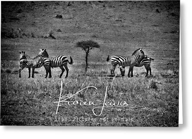 Greeting Card featuring the photograph The Herd by Karen Lewis