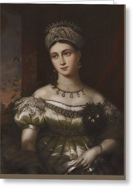 The Hereditary Duchess Of Saxe Gotha Altenburg Greeting Card by MotionAge Designs