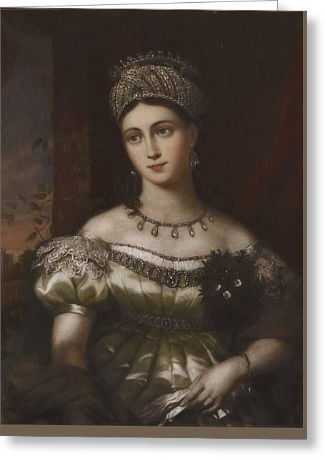 The Hereditary Duchess Of Saxe Gotha Altenburg Greeting Card