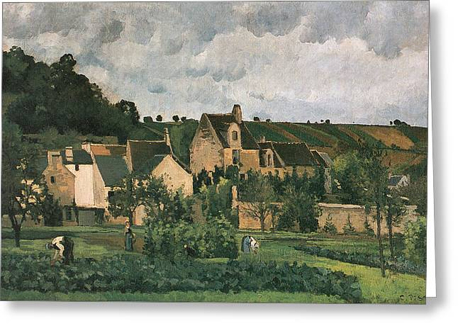 The Hermitage At Pontoise Greeting Card by Camille Pissarro