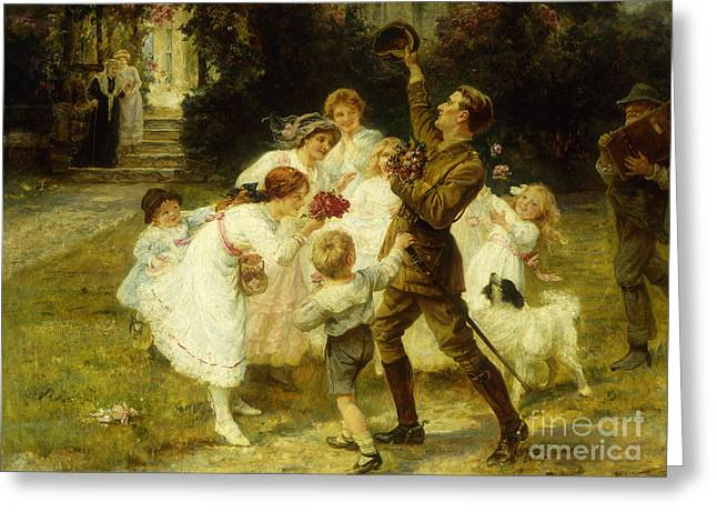The Hero Of The Hour  Greeting Card by Frederick Morgan