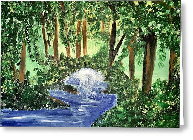 The Hidden Forest Greeting Card by Angela Holmes