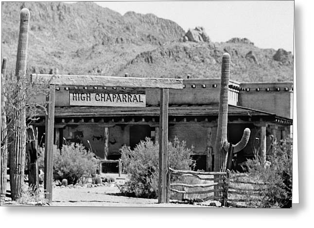 The High Chaparral Set With Sign Old Tucson Arizona 1969-2016 Greeting Card