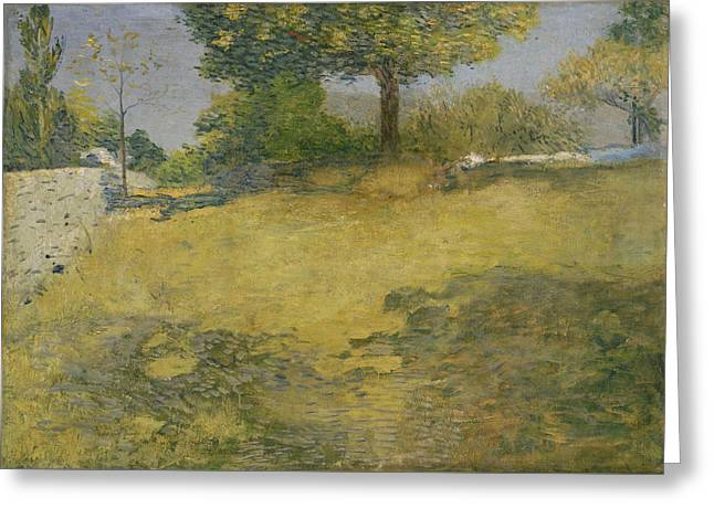 The High Pasture Greeting Card by Julian Alden Weir