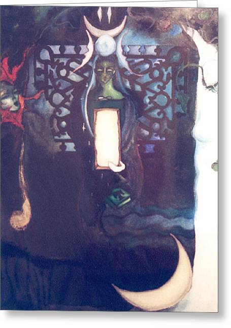 The High Priestess Greeting Card by Erika Brown
