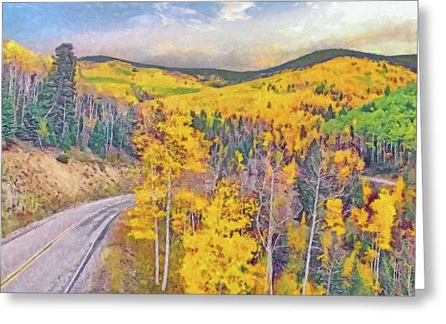 Greeting Card featuring the digital art The High Road To Taos by Digital Photographic Arts