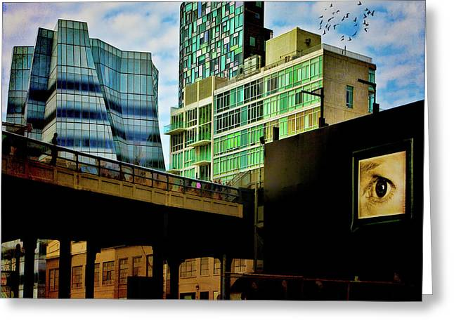 The Highline Nyc Greeting Card by Chris Lord