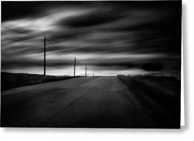 Greeting Card featuring the photograph The Highway by Dan Jurak