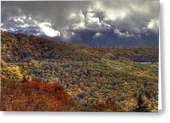 The Highway Thru The Clouds Blue Ridge Parkway Greeting Card by Reid Callaway