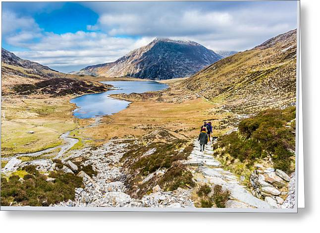 Greeting Card featuring the photograph The Hike Back Down by Nick Bywater