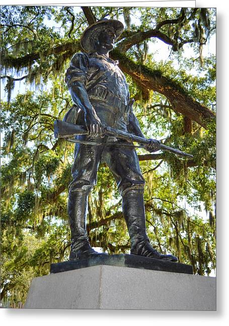 The Hiker Statue Greeting Card by Linda Covino