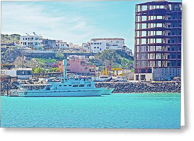 The Hill In Puerto Penasco In Sonora-mexico   Greeting Card