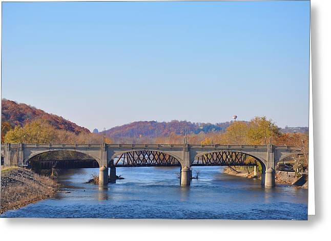 The Hill To Hill Bridge - Bethlehem Pa Greeting Card by Bill Cannon