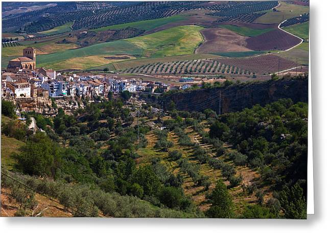 The Hilltop Village Of Alhama De Greeting Card