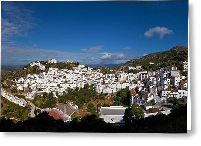 The Hilltop Village Of Casares, Malaga Greeting Card