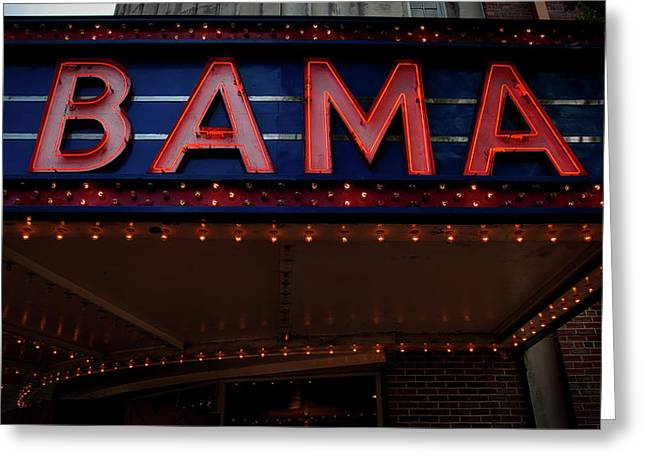 The Historic Bama Theatre Greeting Card by Mountain Dreams