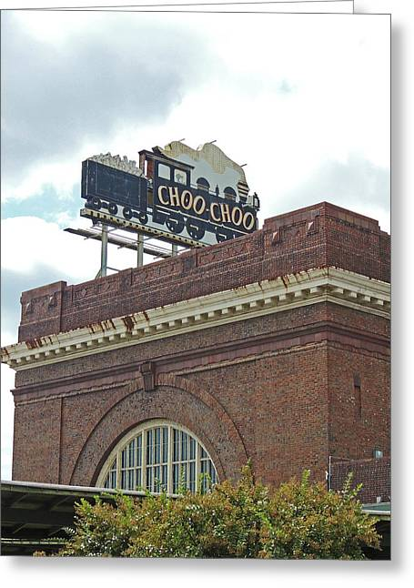 The Historic Chattanooga Choo Choo Sign Greeting Card by Marian Bell