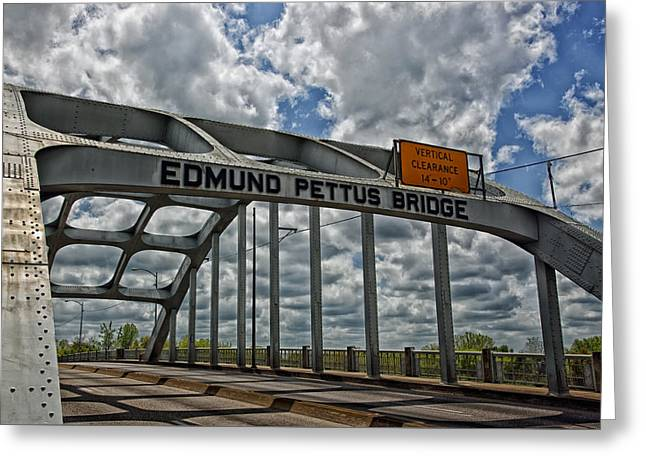 The Historic Edmund Pettus Bridge - Selma Alabama Greeting Card by Mountain Dreams
