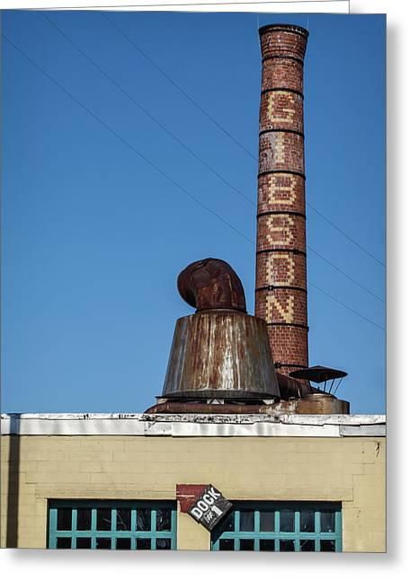 The Historic Gibson Smokestack Greeting Card
