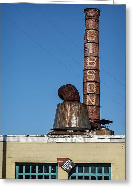 The Historic Gibson Smokestack Greeting Card