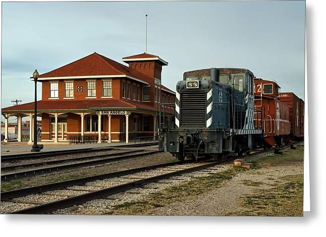 The Historic Santa Fe Railroad Station Greeting Card by Mountain Dreams