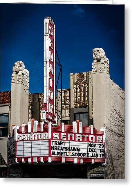 The Historic Senator Theatre Greeting Card by Mountain Dreams
