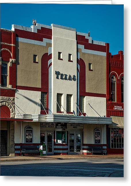 The Historic Texas Theatre Greeting Card by Mountain Dreams
