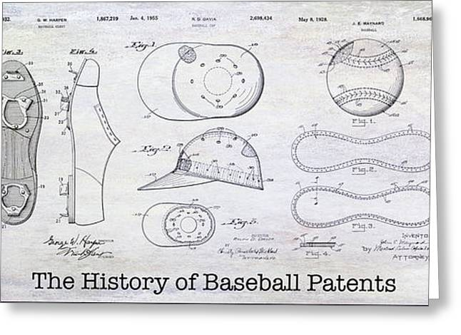 The History Of Baseball Patents Greeting Card