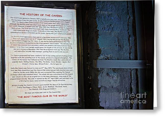 The History Of The Cavern Club Greeting Card