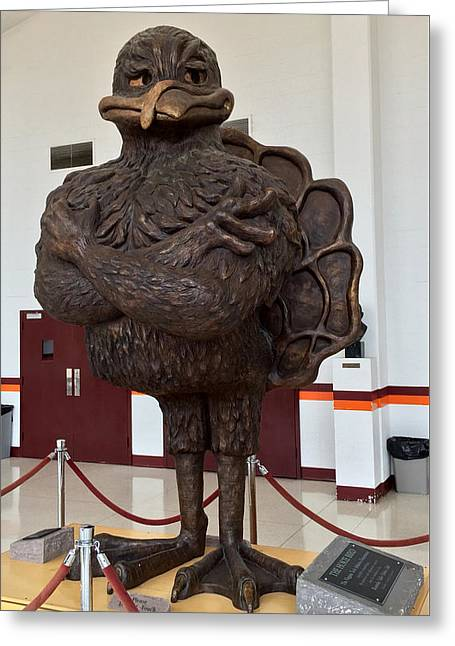 The Hokie Bird Greeting Card by Andrew Webb