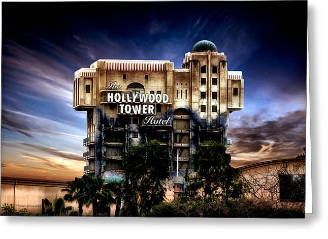 The Hollywood Tower Hotel Disneyland Pa 02 Greeting Card by Thomas Woolworth
