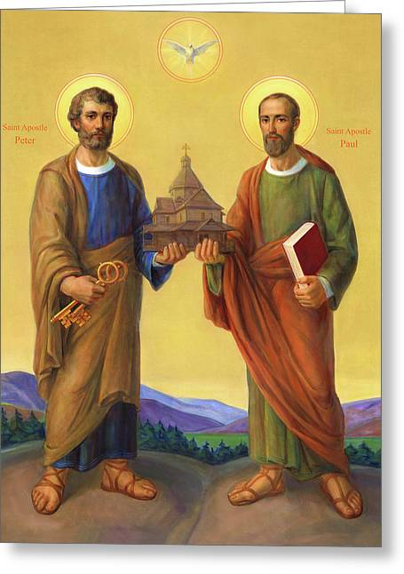 The Holy Apostles Saint Peter And Saint Paul Greeting Card