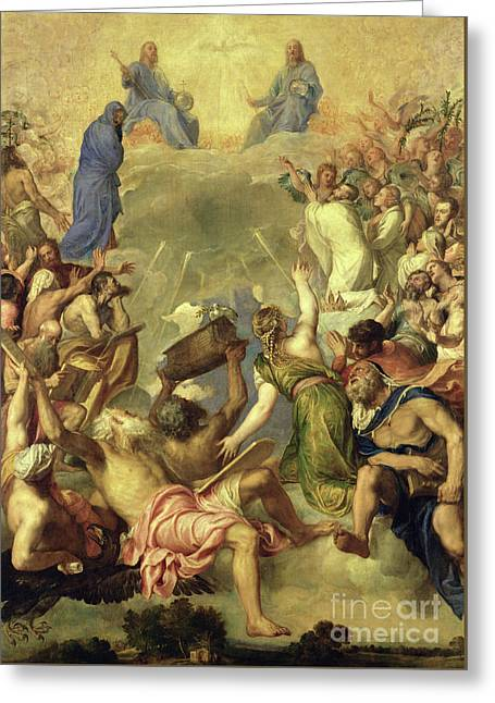 The Holy Trinity Greeting Card by Titian