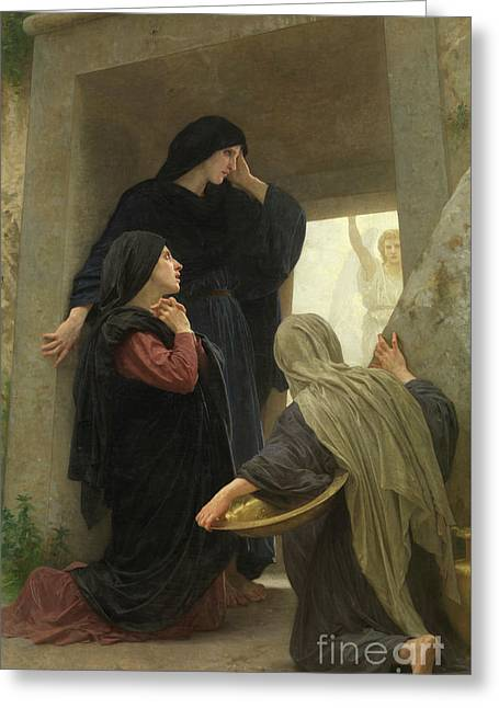 The Holy Women At The Tomb Of Christ Greeting Card by William-Adolphe Bouguereau