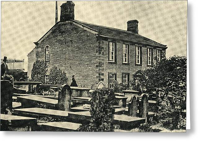 The Home Of Charlotte Bronte,1816-1855 Greeting Card by Vintage Design Pics