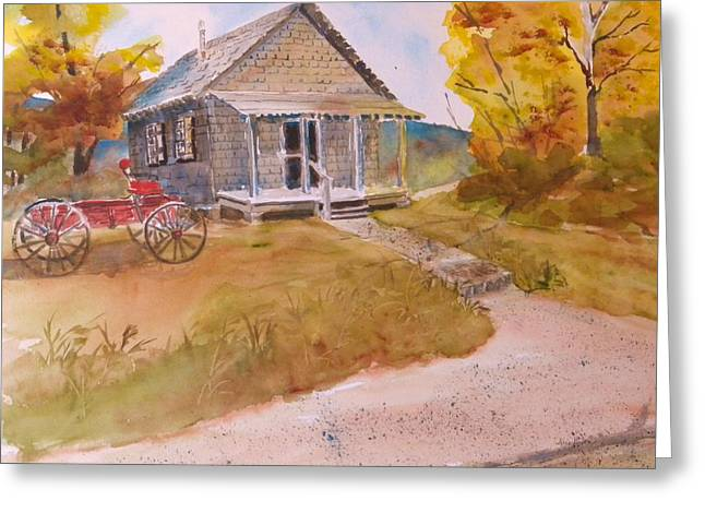 The Home Place Greeting Card by Kris Dixon