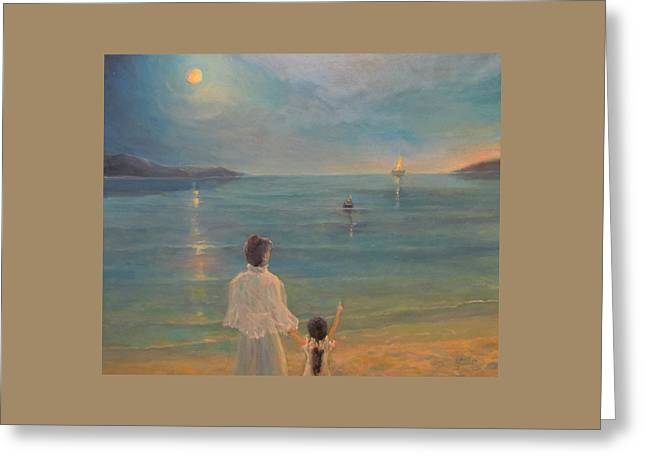 Greeting Card featuring the painting The Homecoming by Donna Tucker